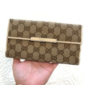 Authentic Gucci GG Long Wallet